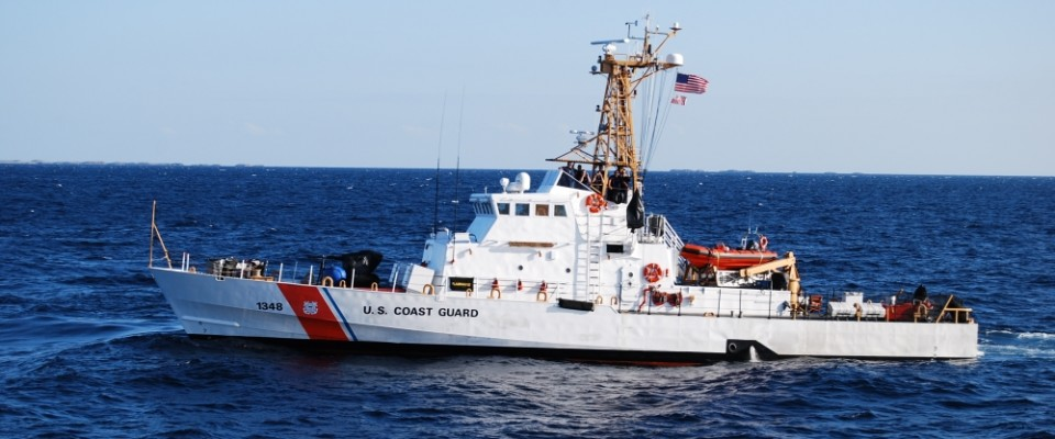 A US Coast Guard Island Class patrol boat, based on the Vosper 110-ft Type which makes up the Ardhana Class.