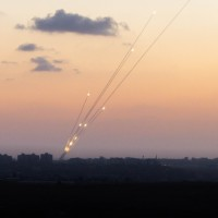 Gaza_Rockets_evening