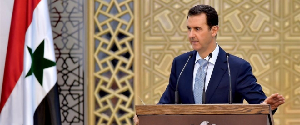 Assad_podium